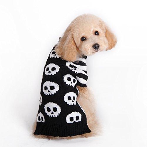Hapee Pet Urlaub Cartoon Schädel Hund Pullover (Pullover Halloween-hund)