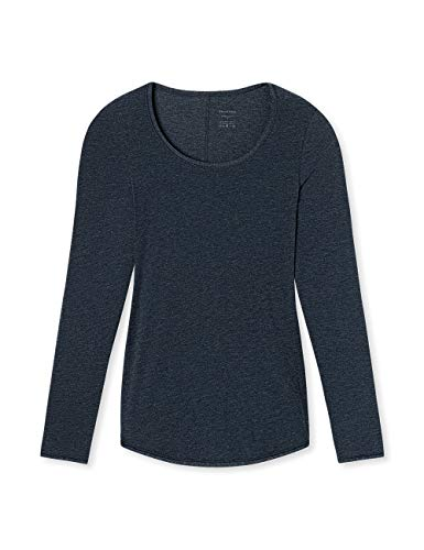 Schiesser Damen Personal Fit Shirt 1/1 Arm Unterhemd, Blau (Nachtblau 804), 36 (Herstellergröße: S)