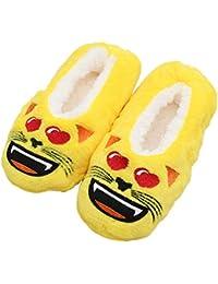 Zapatillas de Dibujos Animados para el hogar Calientes y cálidos y Suaves Calcetines de Felpa Cómodos