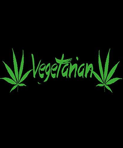 -- Vegetarian -- grüner Aufdruck Baumwolltasche Schwarz