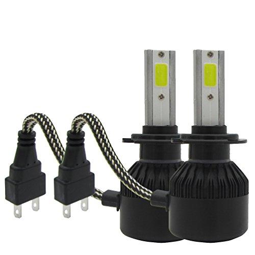 TXVSO 72W 7600LM Kit Bombillas luz LED Faro Kit Conversión del Coche 6000k Blanco, H7