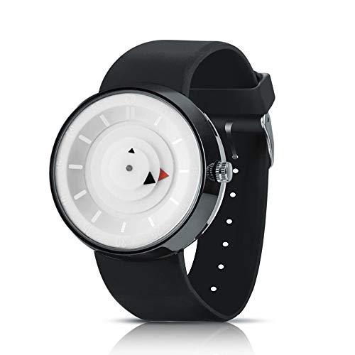 Bestow Reloj de los Hombres de Lujo de Acero Inoxidable de Cuarzo Anal¨gico de Moda Reloj de los Hombres de Moda(Blanco)