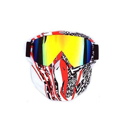 AmDxD TPU+PC Maske Radsportbrille Motorradbrillen Rennwagen Schutzbrillen Brillenträger Fahrradbrille Skibrille für Skifahren Schneemobil Motorrad Fahrrad, Stil 8