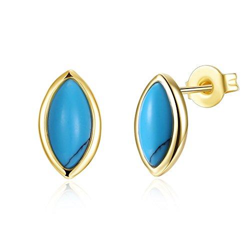 imitation turquoise Boucles d'oreilles à tige Bohème Cadeau Bijoux pour femme fille Mère