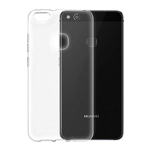 Cadorabo - TPU Ultra Slim Silikon Hülle für > Huawei P10 LITE < - Case Cover Schutzhülle Bumper in VOLL-TRANSPARENT