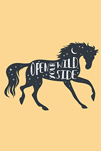 Open Your Wild Side Journal: Horses Blank Notebook | Journal Composition Book Blank (Unruled) Paper for Drawing Writing Journaling Notes & Lettering | ... x 9) Matte Softcover (Pretty Horse Journals) por Pretty Stationery