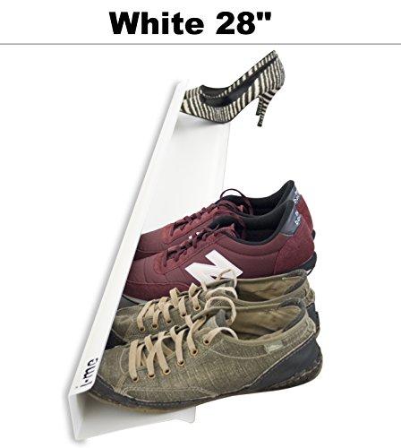 Unbekannt j-me JM200470WHI Schuhregal für 4 Paar Schuhe, wandbefestigt, waagerecht, 70 cm lang,...