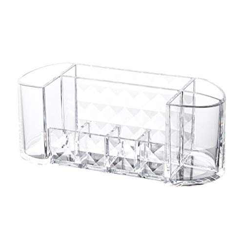 camellia Make-up Pad Cotton Balls Round Container Box Kosmetik Organizer Acryl Lagerung Dispenser (transparent) -