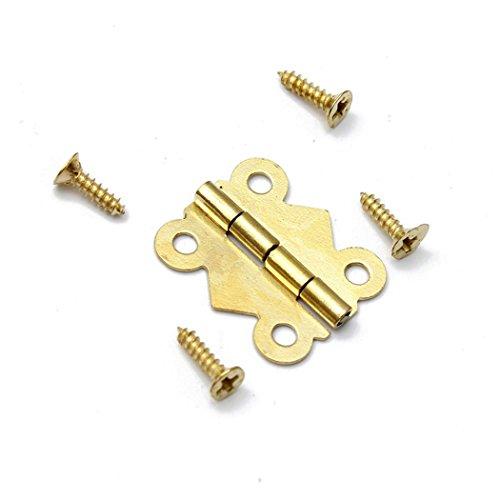 20 Stück Mini Schmetterling Scharniere mit Schrauben für Schmuck Box Schrank Schublade Tür