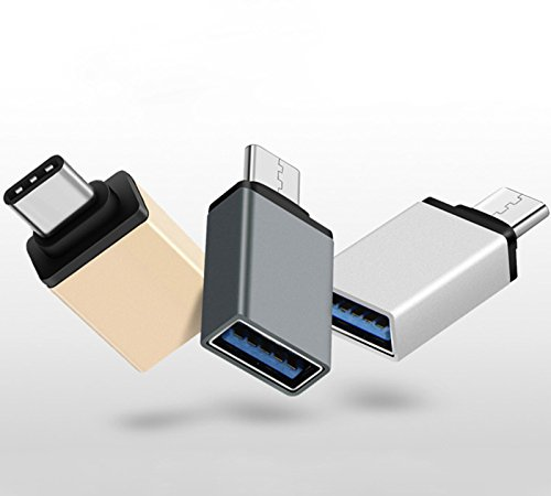 SDO™ USB 3.1 Type-C OTG, 3.1 USB-C(Type-C) to 3.0 USB-A(Type-A) High-Speed Adapter Converter Connector for use with Nexus 5x, Nexus 6p, Nokia N1 Tablet, Lenovo Zuk Z1, LeTV OnePlus and Other Type-C Supported Smartphones & Tablets