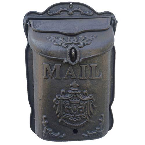 MLMHDF Europäischen Gusseisen Handwerk Retro Kleine Engel Mailbox Briefkasten Box Wand Dekoration Wandbehang Postfach