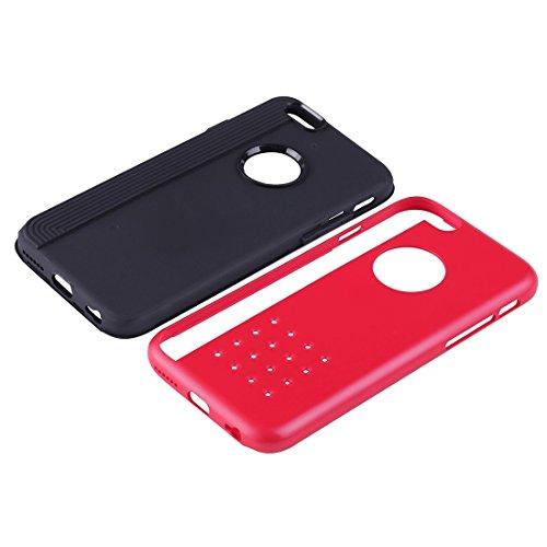 Protection&fashion Per i modelli di cookie per iPhone 6 Plus & 6s Plus Doppio strato Tough Armour TPU + PC Combination Case ( Color : Red ) Red
