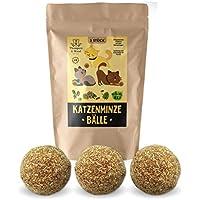 3x Katzenminze Ball   Naturprodukt   Besteht aus 100% natürlicher Katzenminze   Entspannung für Katzen   Katzenspielzeug   Fördert den natürlichen Spieltrieb   Unterstützt die Zahnpflege   1A Qualität