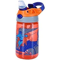 Contigo Gizmo Flip Botella, Unisex niños, Naranja (Nectarine Superhero), Talla Única