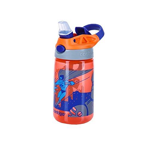 Contigo Gizmo Bouteille Mixte Enfant, Tangerine Superhero, 420 ml