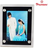 Premsons Photo Frame Includes LED Light - Magic Mirror Photo Frame (Colours May Vary)