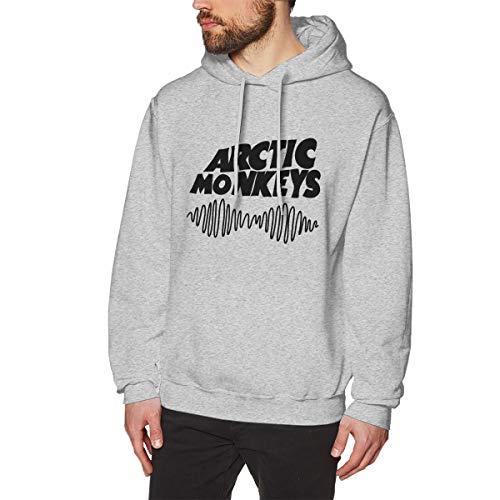 MELODYEC Arctic Monkeys Logo Hombres Callejero Moderno Sudaderas con Capucha Hoodie XL