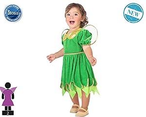 Atosa-61286 Atosa-61286-Disfraz Hada-Bebé + 24 Meses-Niña-Verde, color (61286)