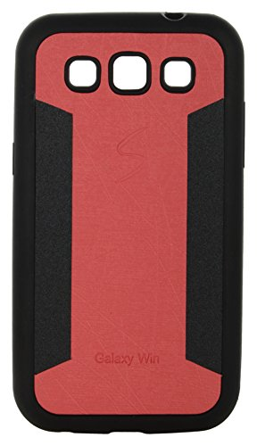 iCandy™ 2 Color Soft Lather Finish Back Cover For Samsung Galaxy Grand Quattro I8552 - Red  available at amazon for Rs.115