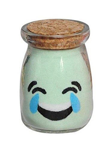 Preisvergleich Produktbild PANDA SUPERSTORE Kreative Handgemachte Spezial Geschenk Sand Flasche Gemalt Mit Kork Lachen Und Schrei Emoji