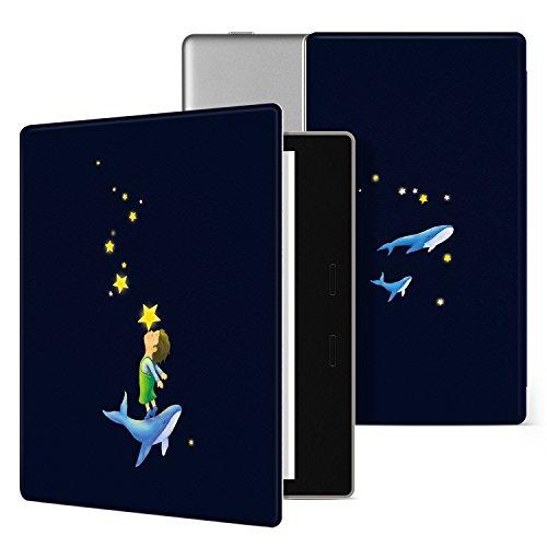 Ayotu Bunte Hülle für Kindle Oasis - (9. Generation, 2017 Release Only) Leichte Premium PU Lederhülle mit Auto Wake/Sleep, Starke Adsorption für Alle Neuen 7''Kindle Oasis Case, KO-01 The Star Kiss