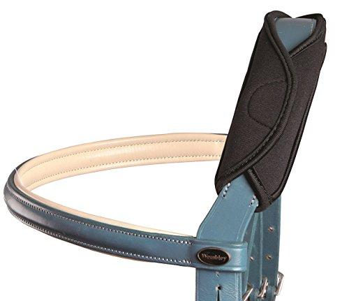 Reitsport Amesbichler Waldhausen Genickschoner Gel schwarz 24 cm für Pferde - Universal Genickschoner für TrenseKopfstück Zaum Halfter