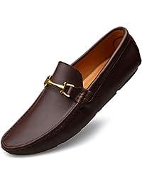 YUANN Calzado de cuero para hombre, zapatos cómodos mocasines de primavera otoño Calzado de conducción