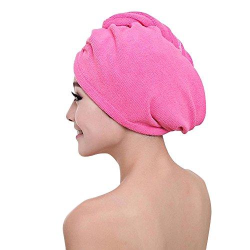 VRTUR Haarturban Handtuch für die Haare Haar Handtuch schnelltrocknendes Handtuch Mikrofaser Badetuch Hat Cap Lady Bath Tool(One size,E)