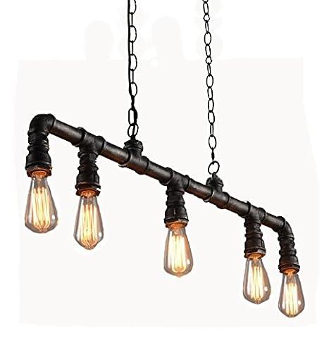 GBT rétro industrielle Vent personnalité Eau Lustre? Lampes LED, lumière chaude, éclairage Blanc, lustres, Lampes de lumières d'intérieur, extérieur, Lampes de mur?, noir