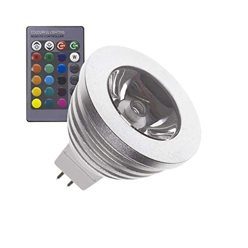 Lámpara LED GU5.3 MR16 12V DC RGB 60º 3W
