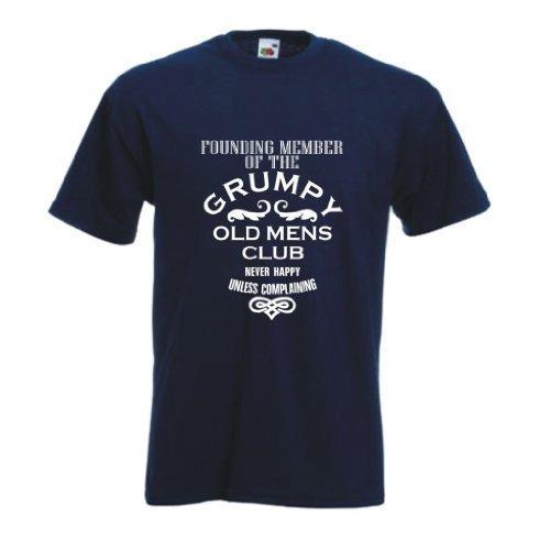 Founding mitglied von dem Mürrische alter herren club T-shirt Marineblau