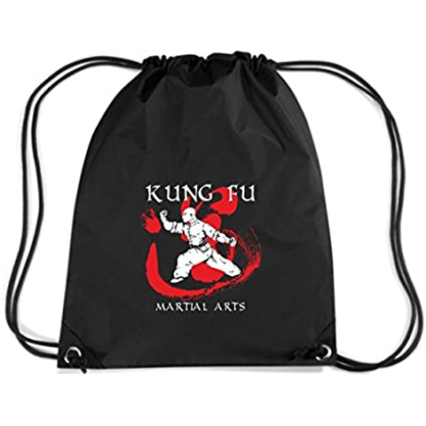 T-Shirtshock - Mochila Budget Gymsac T0399 kung fu arti marziali