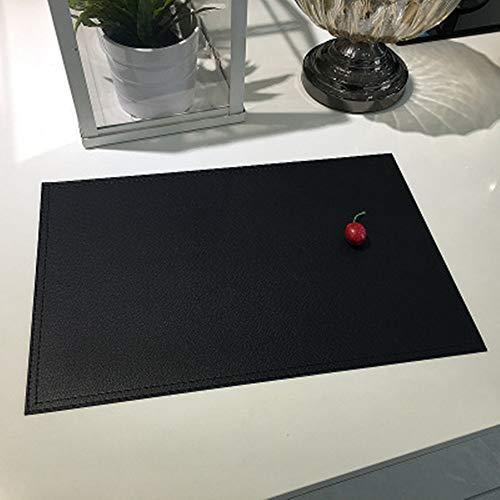 KACTZDZ Lot de 6 Sets de Table imperméables en PVC Double Couche en Similicuir 30 x...