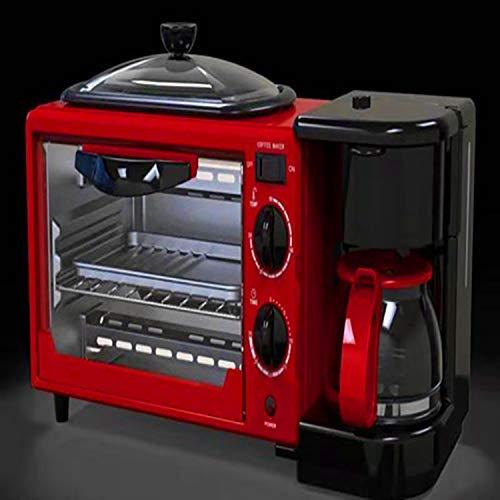 Multifunktions-FrühstücksautomatOven Toaster Multifunktions-Frühstücksautomat Home 3-in-1-Kaffee-Toaster Mini-Elektroherd Omelett -