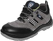 Allen Cooper 1156 Men's Safety Shoe, Size-8 UK, Grey (1 Pair Free So
