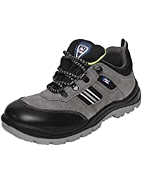 Allen Cooper 1156 Men's Safety Shoe, Size-8 UK, Grey
