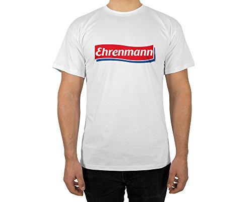 (licaso Männer T-Shirt mit Aufdruck in Weiß Gr. XXL Ehrenmann Gang Design Boy Top Jungs Shirt Herren Basic 100% Baumwolle Kurzarm)