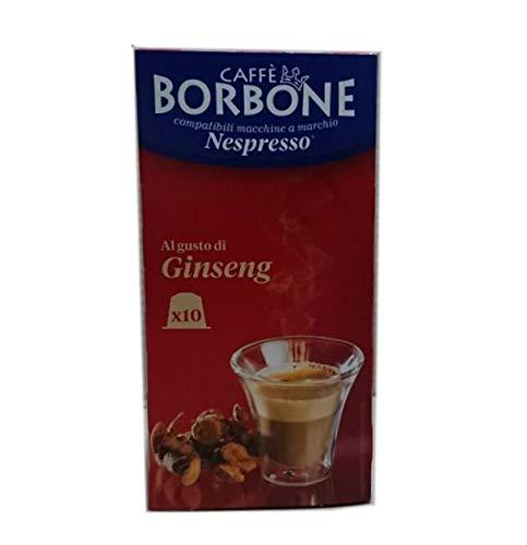 60 Kapseln Comp. Nespresso - Ginseng 6x10 - Caffè Borbone
