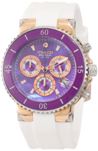 MULCO WOMEN'S 44MM SILICONE BAND STEEL CASE SWISS QUARTZ WATCH MW3-70604-015