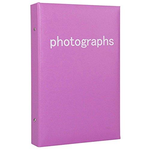 FOOHAO- Album photo simple face PU, insérer une collection de photos personnelles, pour accueillir 300 photos -6 '' (Couleur : Violet)