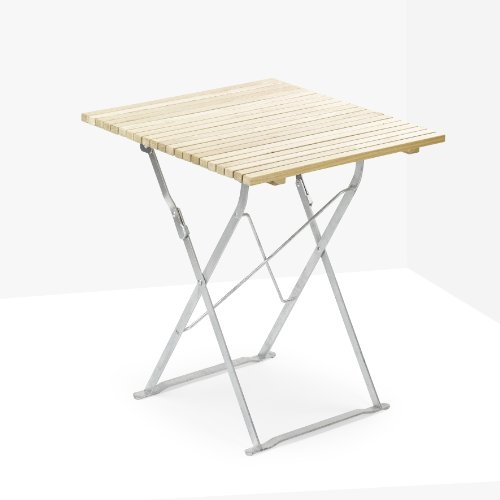 Gartentisch INTERVALL, klappbarer Biergartentisch, Eichenholz auf verzinktem Stahlgestell