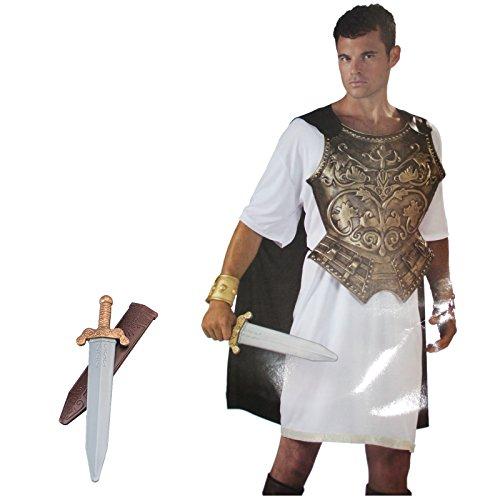 Kostüm Legionär mit Schwert römischer Krieger Römerkostüm Antike Römerin Rom (Römisches Gürtel Schwert)