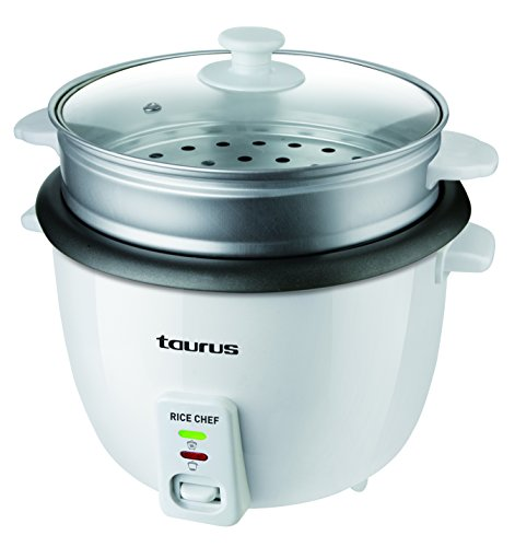 Taurus Rice Chef Hervidora de Arroz 700 W, 1.8 litros, 0 Decibeles, Gris, Blanco