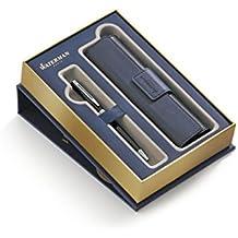 WATERMAN estuche con bolígrafo Hemisphere y funda, lacado en negro con adornos cromados (1978718)