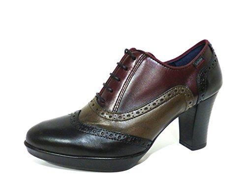 Callaghan 98732 galatia scarpe donna francesina derby con tacco multicolor n° 35