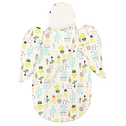 JSIHENA Couvertures Coton Nouveau-Né Nids d'ange Sommeil Est Sac De Couchage Anti-Choc Automne Et Hiver Épais Printemps Et Automne Coton Nouveau-Né Fournitures Câlin,Green