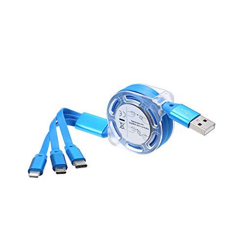 Docooler 3-in-1 Noodle Design Ladekabel Datenkabel Micro USB Typ-C Blitzladegerät Datenübertragungskabel für iPhone Android Samsung Xiaomi