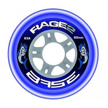 BASE Hockey Outdoor Rolle Rage2- 4-er Set, Rollengröße:72