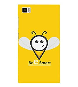 Fabcase Bee Smart Funny Design Designer Back Case Cover for Xiaomi Mi3 :: Xiaomi Mi 3