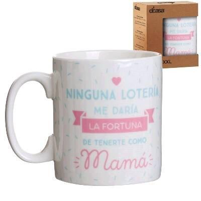 Lama Mug XXL Brustkrebs Lotterie, Keramik, Weiß, 13x 10x 12cm -